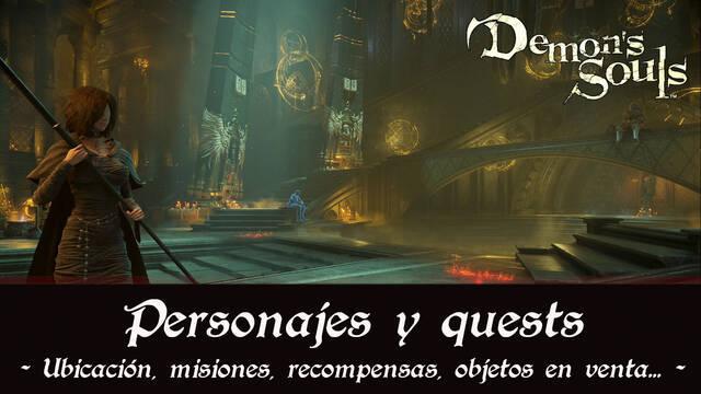 Demon's Souls Remake - Todos los personajes, quests y recompensas