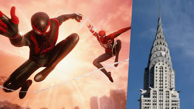 Spider-Man Miles Morales edificio Chrysler