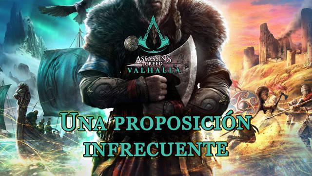 Una proposición infrecuente al 100% en Assassin's Creed Valhalla