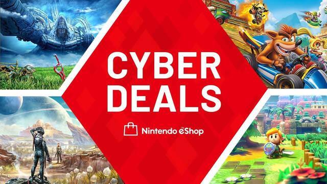 Ofertas Cyber Deals en juegos digitales de la eShop de Nintendo Switch.