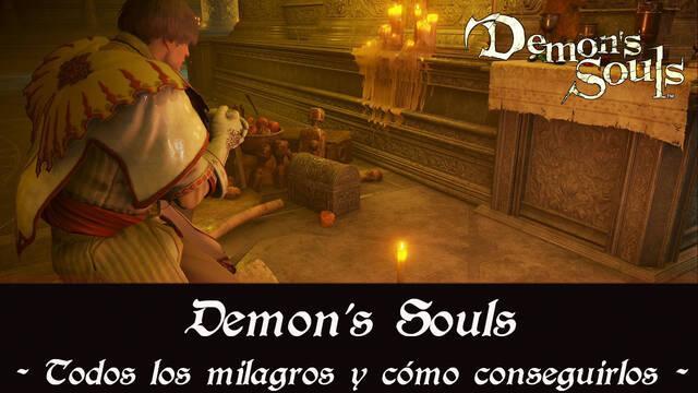 Demon's Souls Remake - TODOS los milagros y cómo conseguirlos