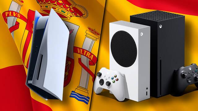 PS5 y Xbox Series X/S ventas en España