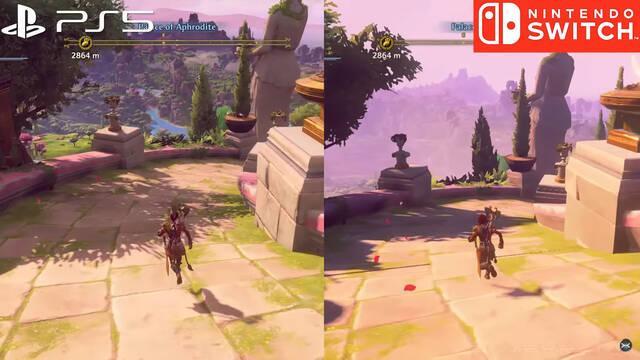Immortals Fenyx Rising comparativa PS5 Nintendo Switch