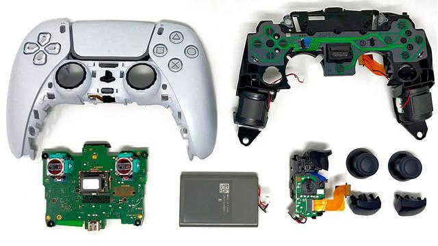 DualSense interior piezas PS5