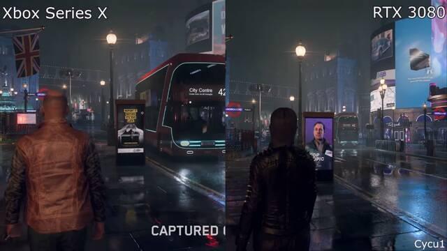 Comparativa de Watch Dogs Legion en Xbox Series X y en PC.