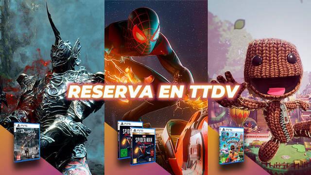 Reserva de juegos de PS5 en TTDV.
