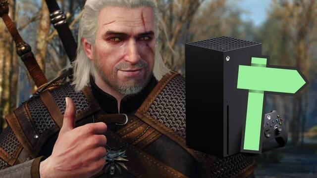 Tiempos de carga instantáneos en el viaje rápido de The Witcher 3 en Xbox Series X.