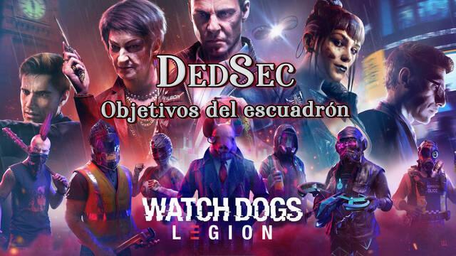 DedSec, Objetivos del escuadrón al 100% en Watch Dogs Legión