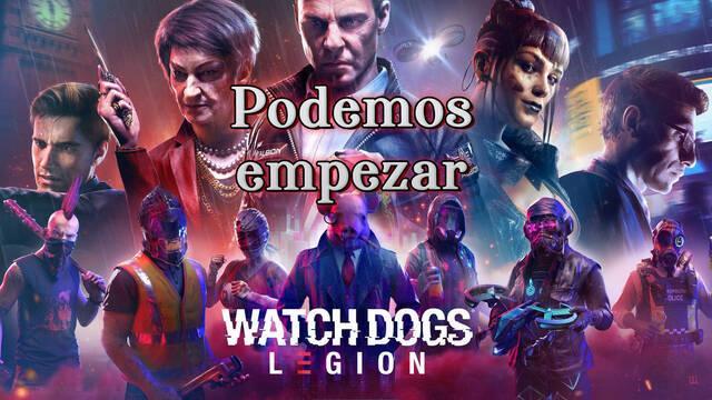 Podemos empezar al 100% en Watch Dogs Legión