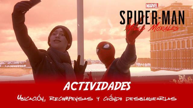 TODAS las actividades en Spider-Man: Miles Morales - Ubicación y recompensas