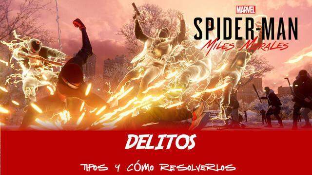 Delitos en Spider-Man: Miles Morales: tipos y recompensas