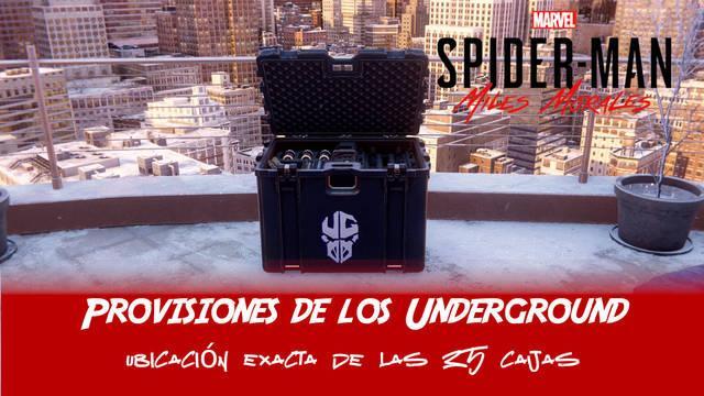 TODAS las provisiones de los Underground en Spider-Man: Miles Morales