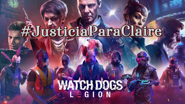 #JusticiaParaClaire al 100% en Watch Dogs Legión