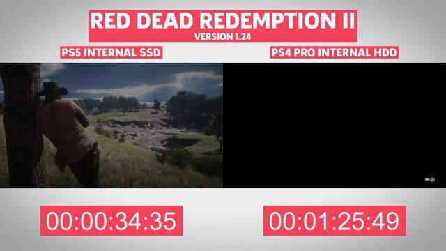 Comparan los tiempos de carga de juegos de PS4 en PS5