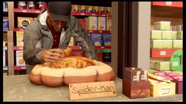 El gato al agua al 100% en Spider-Man: Miles Morales