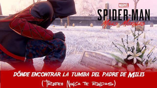 ¿Dónde está la tumba del padre de Miles en Spider-Man: Miles Morales?