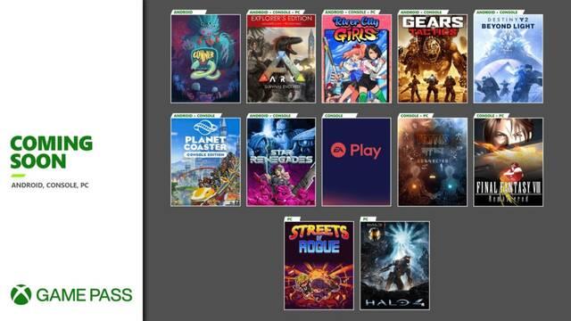Novedades de noviembre de 2020 en Xbox Game Pass.