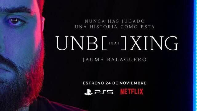 La imagen promocional del unboxing de Ibai en Netflix