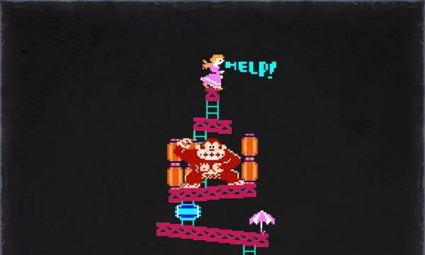 Un árbol de Navidad inspirado en Donkey Kong
