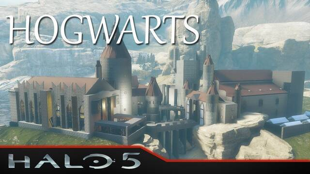 Recrean Hogwarts en Halo 5: Forge