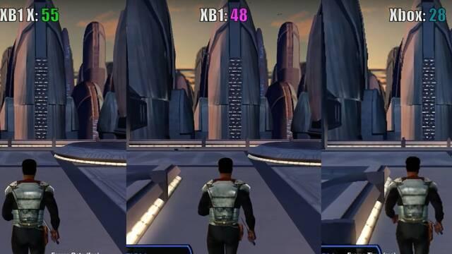 Comparan Knights of the Old Republic en Xbox One X, Xbox One y Xbox