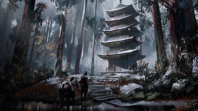 Ghost of Tsushima se muestra en nuevas ilustraciones