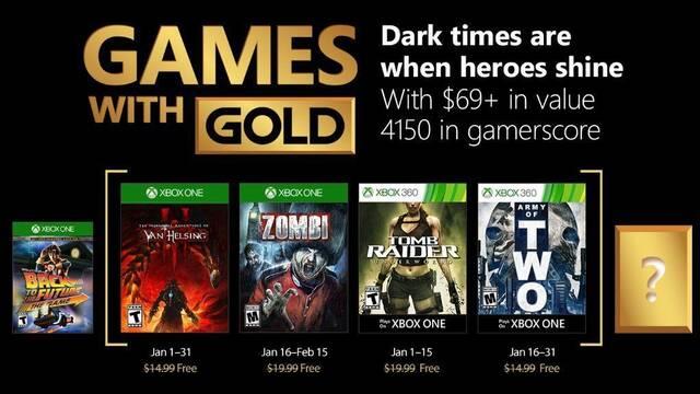 Anunciados los Juegos con Gold de enero