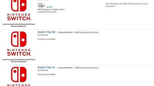 Amazon recoge nuevos juegos misteriosos para Nintendo Switch