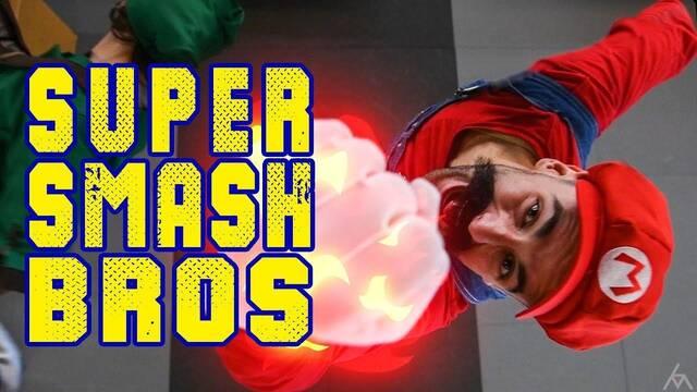 Especialistas de cine interpretan Super Smash Bros. en el mundo real