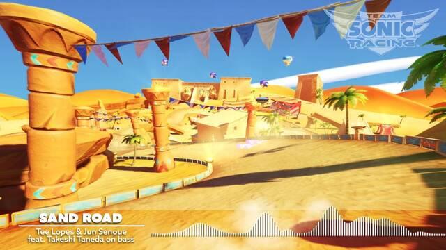 Team Sonic Racing presenta nuevo tema musical y circuito