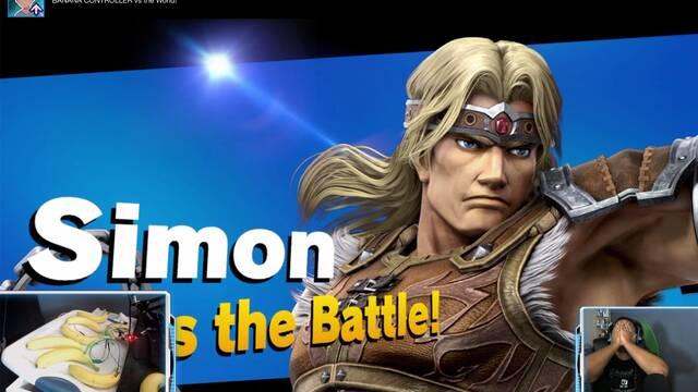 Se monta un mando con plátanos para jugar con Super Smash Bros. Ultimate