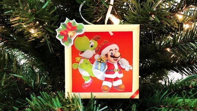 Crea tu decoración navideña de Mario y Yoshi con esta manualidad