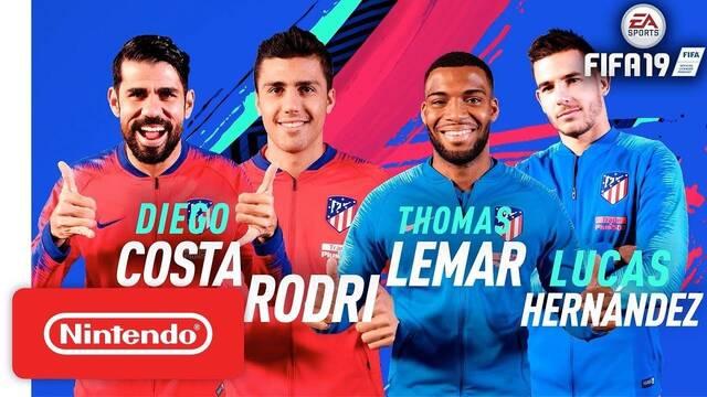 Los jugadores del Atleti juegan a FIFA 19 en Nintendo Switch