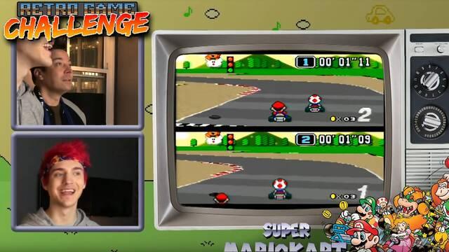 Jimmy Fallon y Ninja se retan con juegos clásicos