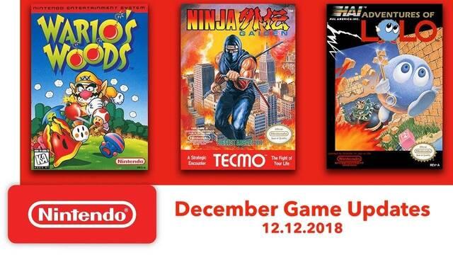 Tres nuevos juegos de NES para Nintendo Switch Online el 12 de diciembre