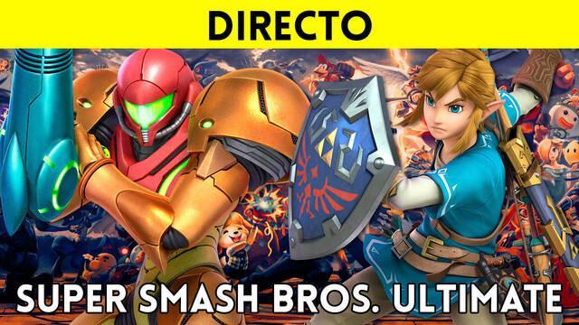 Jugamos en directo a Super Smash Bros. Ultimate a partir de las 16:00