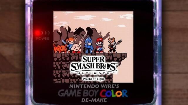 Imaginan la intro del modo historia de SSB: Ultimate en una Game Boy Color