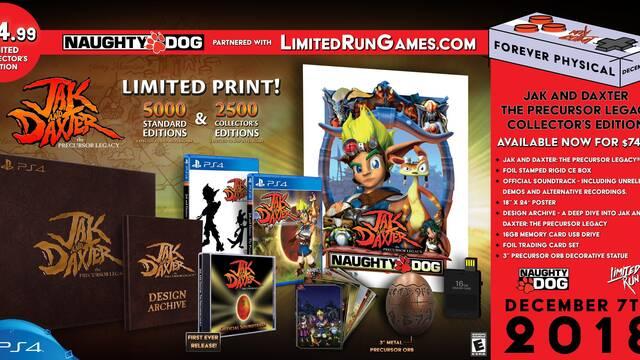 Jak and Daxter contará con una edición física limitada en PS4