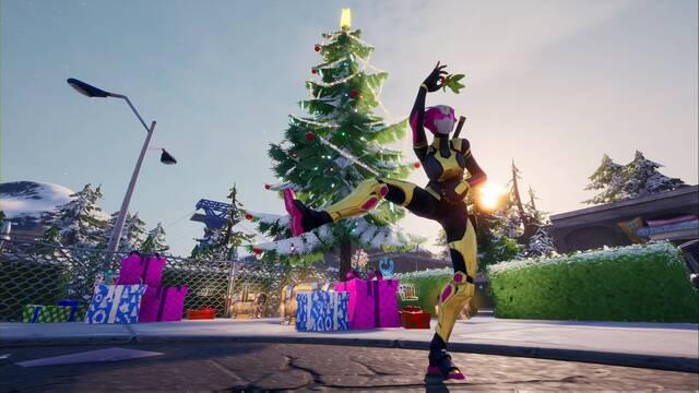 Desafío Fortnite: Baila junto a árboles de Navidad - LOCALIZACIÓN