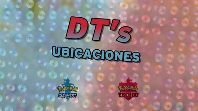 TODOS los DTs en Pokémon Espada y Escudo - Localización