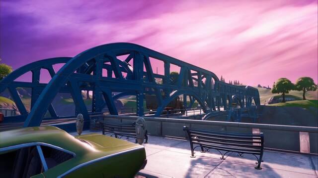 Fortnite: Baila en puentes de acero de colores - LOCALIZACIÓN