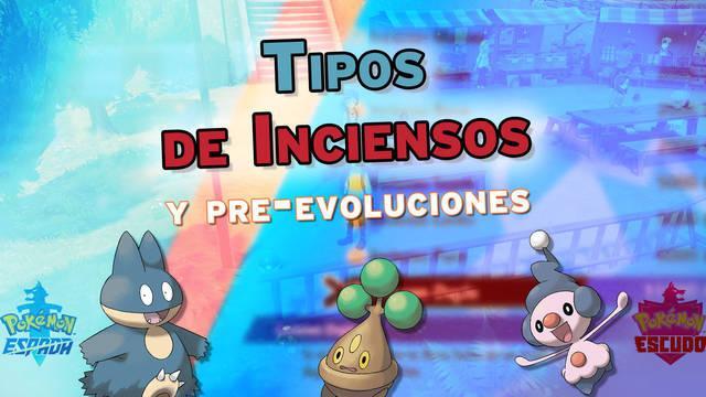 Conseguir Inciensos y qué pre-evoluciones Pokémon salen de los huevos al usarlos