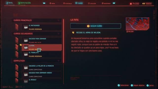 La pipa en Cyberpunk 2077 al 100%