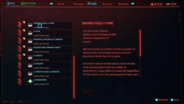 Huele a Tygre en Cyberpunk 2077 al 100%