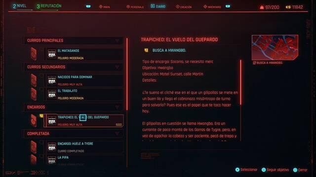 El vuelo del guepardo en Cyberpunk 2077 al 100%