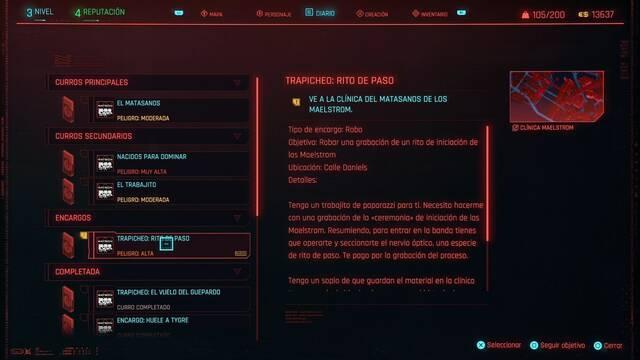 Rito de paso en Cyberpunk 2077 al 100%