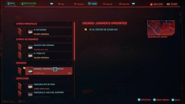 Jurameto hipocrático en Cyberpunk 2077 al 100%