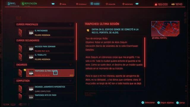 Última sesión en Cyberpunk 2077 al 100%