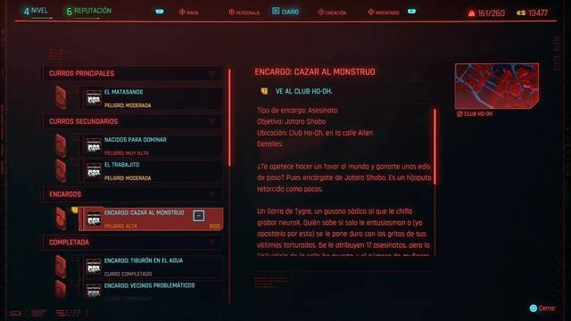 Cazar al monstruo en Cyberpunk 2077 al 100%