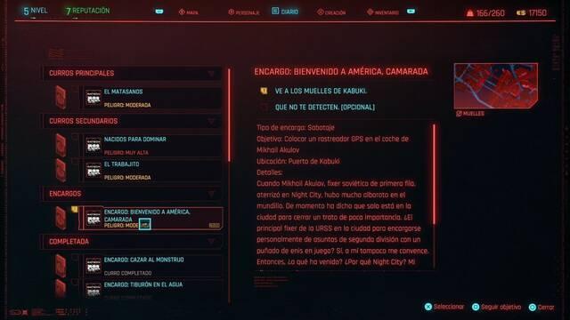 Bienvenido a América, camarada en Cyberpunk 2077 al 100%